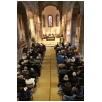 Wegen schlechten Wetter fand der Gottesdienst dann doch in der Martinskirche statt