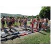 Kleiderschlange am Baggersee